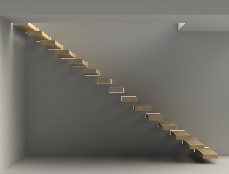 Beau Fontanot Wall   Cantilevered Staircase
